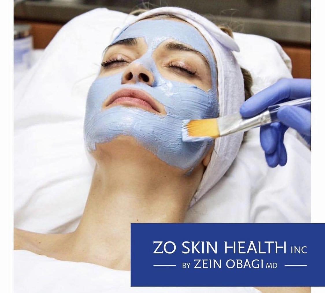 Image of woman getting ZO Skin care mask